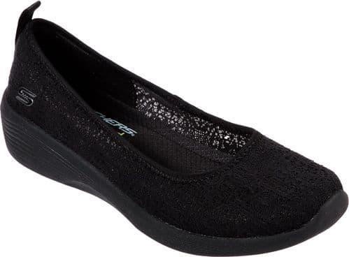 Skechers Arya Airy Days Shoe Ladies Summer Black